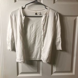 White crop cardigan, junior's size small